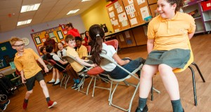 Children playing Musical Chairs at Kidscene