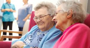 Jenny's Well residents laugh, Jennys Well older person care home for blind, rest home