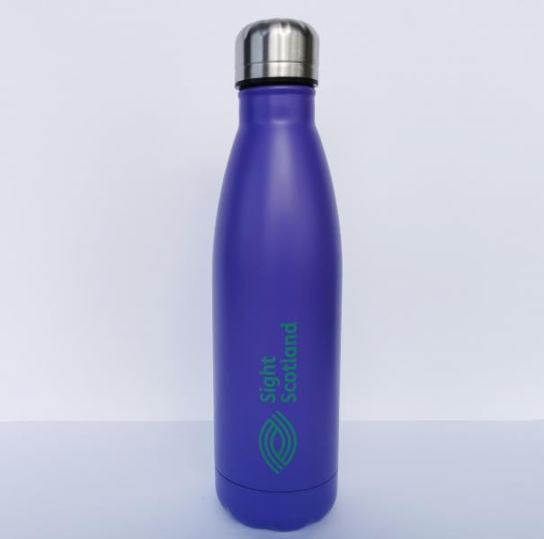Insulated water bottle. Support Sight Scotland by purchasing this merchandise item