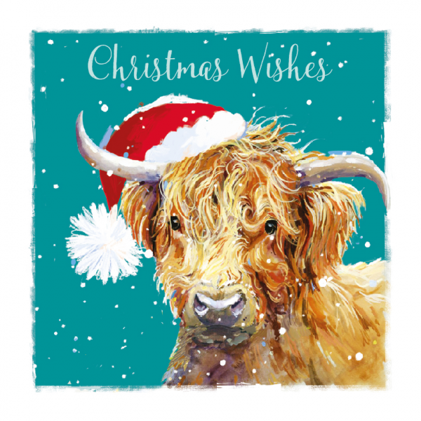 Give a Highland Cow card this Christmas and put a smile on everyone's face. Photo for fundraising store
